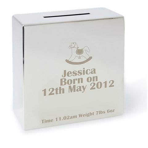 Personalised Engraved Rocking Horse Money Box - VIOLETMAI