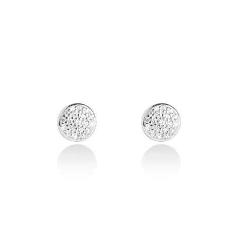 Forever JOMA  Fine Pave Disc Studs - Violetmai Jewellery and Gifts