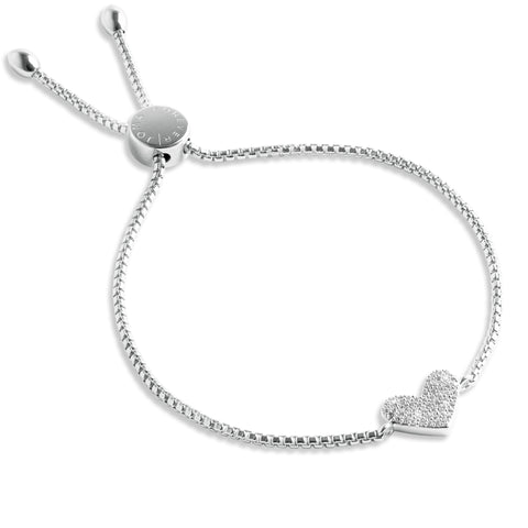 Forever JOMA Sterling Silver  Fine Pave Heart Bracelet - Violetmai Jewellery and Gifts