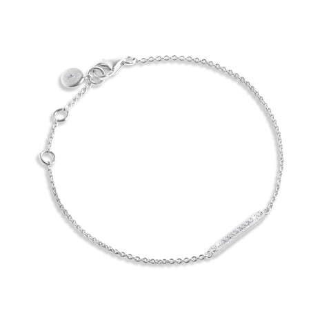 Forever JOMA  Fine Pave Bar Bracelet - Violetmai Jewellery and Gifts