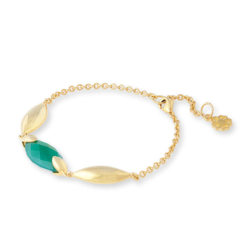 Hera Semi-Precious Stone Bracelet in Green Onyx by Azuni - Violetmai Jewellery and Gifts