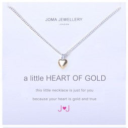JOMA A Little Heart Of Gold Necklace - Violetmai Jewellery and Gifts