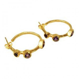 Julep Gemstone Hoops - Violetmai Jewellery and Gifts
