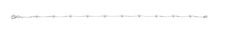 Sterling Silver Snake and Dots Anklet - VIOLETMAI