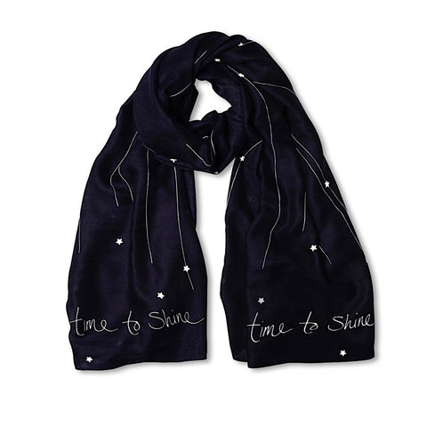 Time to Shine Navy Scarf by Katie Loxton