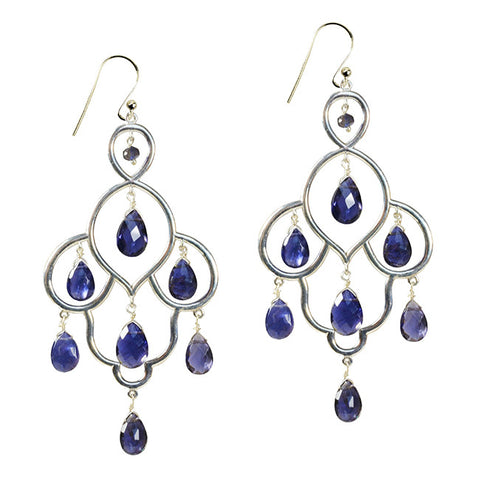 Lyla Iolite Earrings - VIOLETMAI