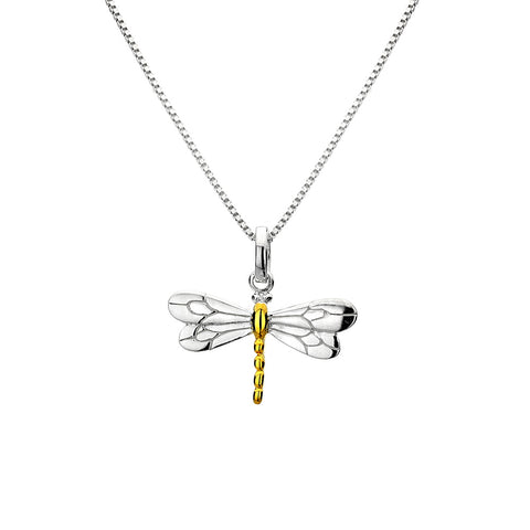 Pure Origins Sterling Silver Dragonfly Pendant with Chain