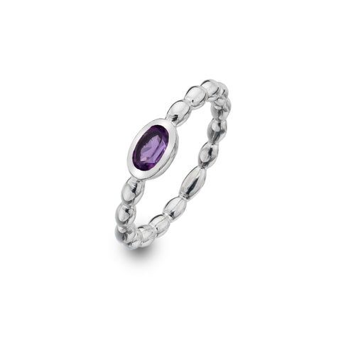 Pure Origins Amethyst Bubble Ring