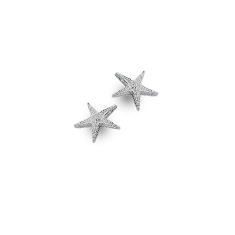 Pure Origins Sterling Silver Starfish Earrings