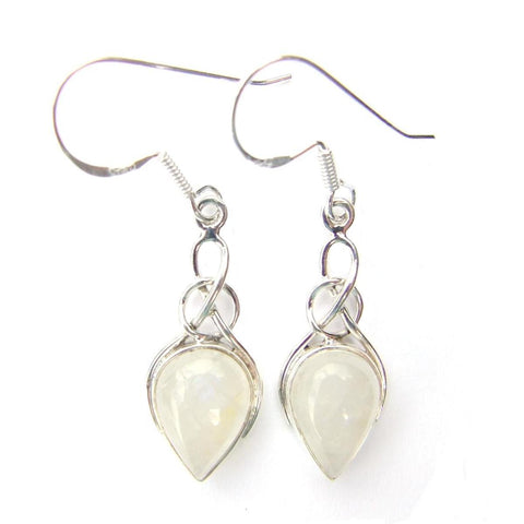 Violetmai Sterling Silver Moonstone Earrings