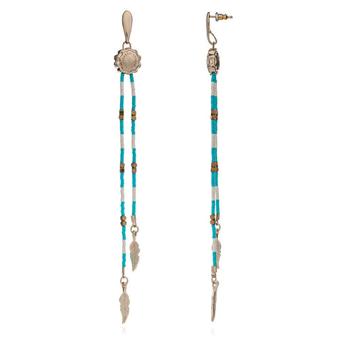 Azuni  Santa Maria Earrings in Turquoise and Gold