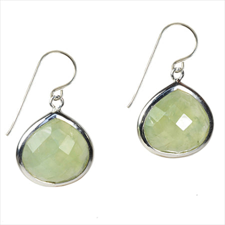 Candypear Prehnite Silver Earrings - Violetmai Jewellery and Gifts