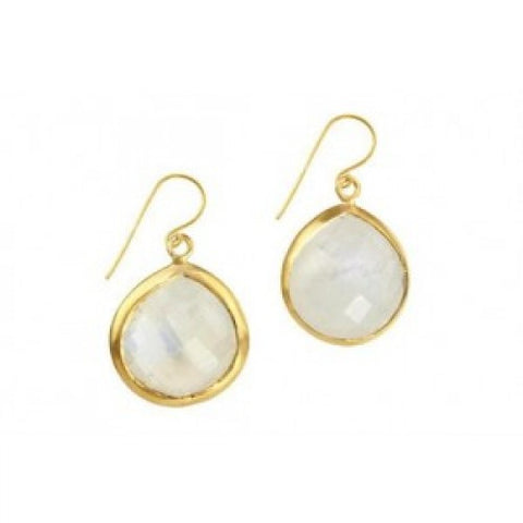 Candypear Moonstone Goldplate Earrings - Violetmai Jewellery and Gifts