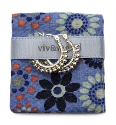 Viv And Ingrid Beaded Hoops - VIOLETMAI - 1