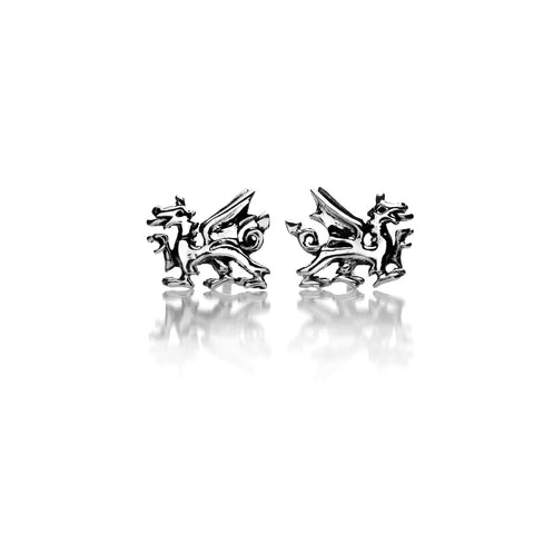 Pure Origins Sterling Silver Welsh Dragon Stud