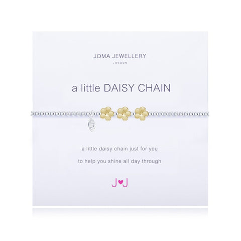 JOMA A Little Daisy Chain Bracelet - Violetmai Jewellery and Gifts