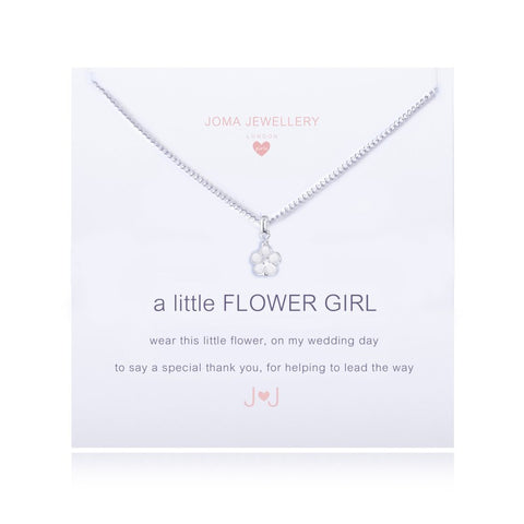 Joma Girls A Little Flower Girl Necklace - Violetmai Jewellery and Gifts