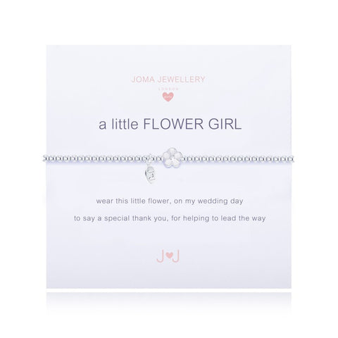Joma Girls A little Flower Girl Bracelet - Violetmai Jewellery and Gifts