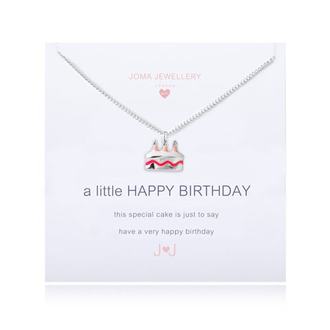 Joma Girls A Little Happy Birthday Necklace - Violetmai Jewellery and Gifts