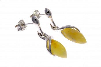 Butter Amber Drop Earrings - Violetmai Jewellery and Gifts