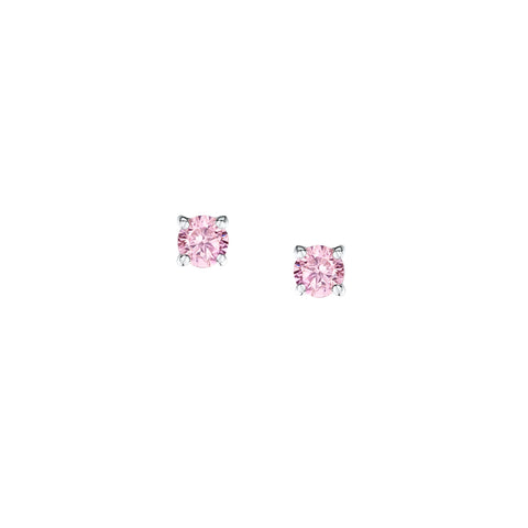 Jo for girls Sterling Silver simple CZ earrings - Violetmai Jewellery and Gifts