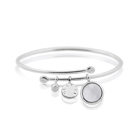 Joma Jewellery Clarity Story Bangle - Violetmai Jewellery and Gifts