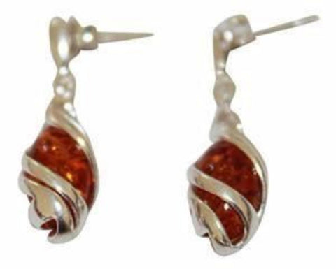 Artemis Amber earrings - Violetmai Jewellery and Gifts