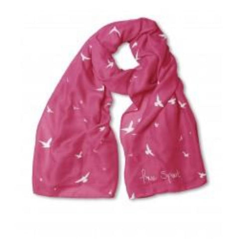 Katie Loxton Free Spirit scarf in Fushia - Violetmai Jewellery and Gifts