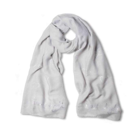 Heart of Gold Grey Scarf by Katie Loxton
