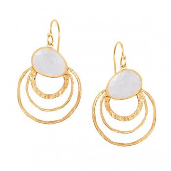 Violetmai's Mistral Three Hoop Gold Earrings - VIOLETMAI - 1