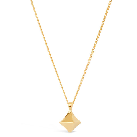 Almaz Gold Vermeil diamond drop Necklace by Dinny Hall - Violetmai Jewellery and Gifts