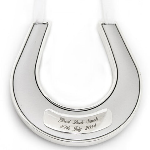 Personalised Engraved Horseshoe Good luck Keepsake - VIOLETMAI - 2