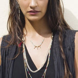Azuni  Apache warrior white necklace - Violetmai Jewellery and Gifts