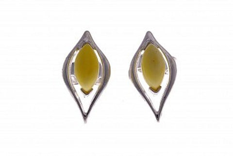 Butter Amber Studs - Violetmai Jewellery and Gifts