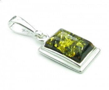 Amber square pendant - Violetmai Jewellery and Gifts