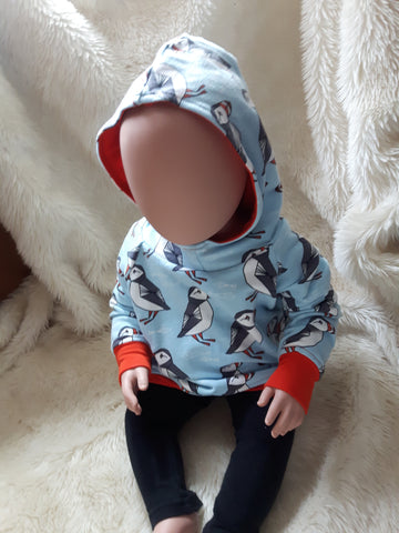 Puffins Organic Cozy Hoodie