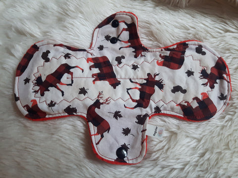 Buffalo Plaid Animals Cloth Menstrual Pad