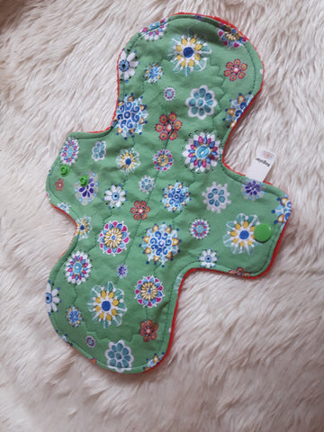 Green Mandalas Cloth Menstrual Pad