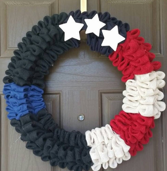 USA Wreath- Patriotic Wreath-Door Wreaths- Destined with Creativity - Destined with Creativity - 2