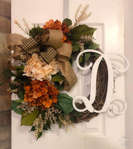 Fall Initial Wreath