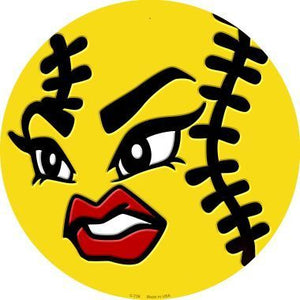 "12"" Angry Softball Sign"
