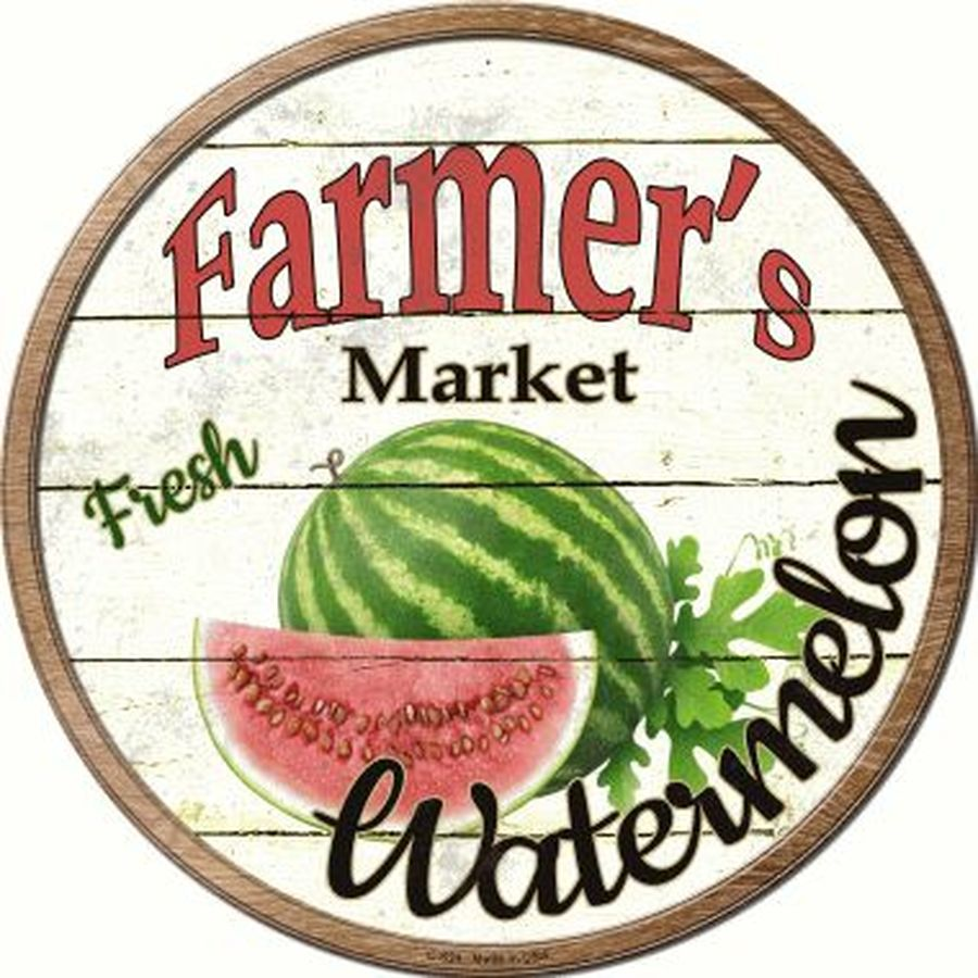 Farmers Market Watermelon Sign