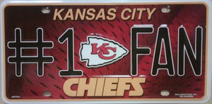 Kansas City Chiefs Metal License Plate-License Plate - Destined with Creativity