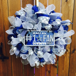 Dallas Cowboys Wreath- Pro Football Wreath-Destined with Creativity - Destined with Creativity