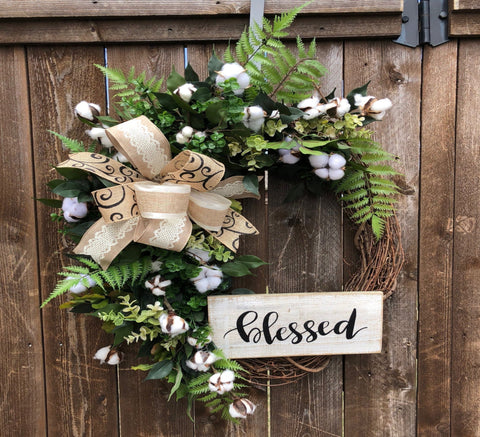 Blessed Grapevine Wreath