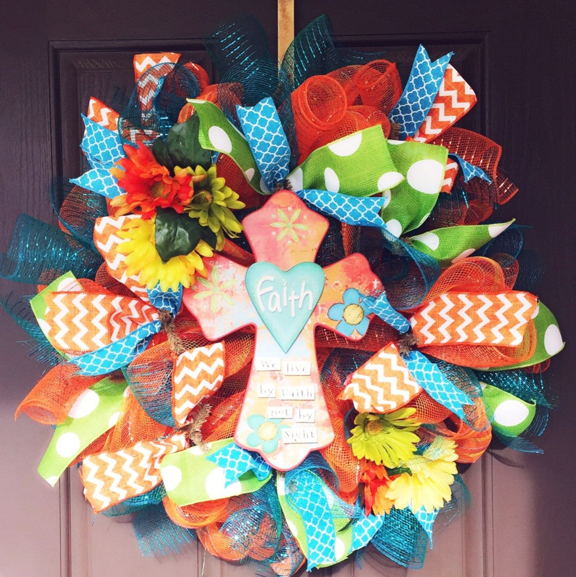 Cross Wreath-Summer Wreath-Destined with Creativity - Destined with Creativity