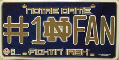 Notre Dame Metal License Plate-License Plate - Destined with Creativity