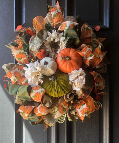 Pumpkin Moss Wreath Kit