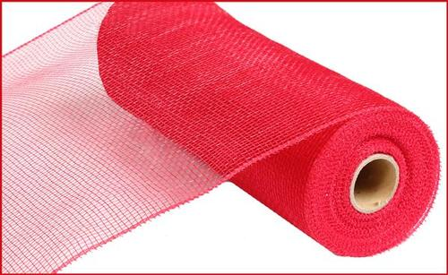 "10"" Poly Deco Value Mesh-Red"