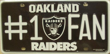Oakland Raiders Metal License Plate-License Plate - Destined with Creativity